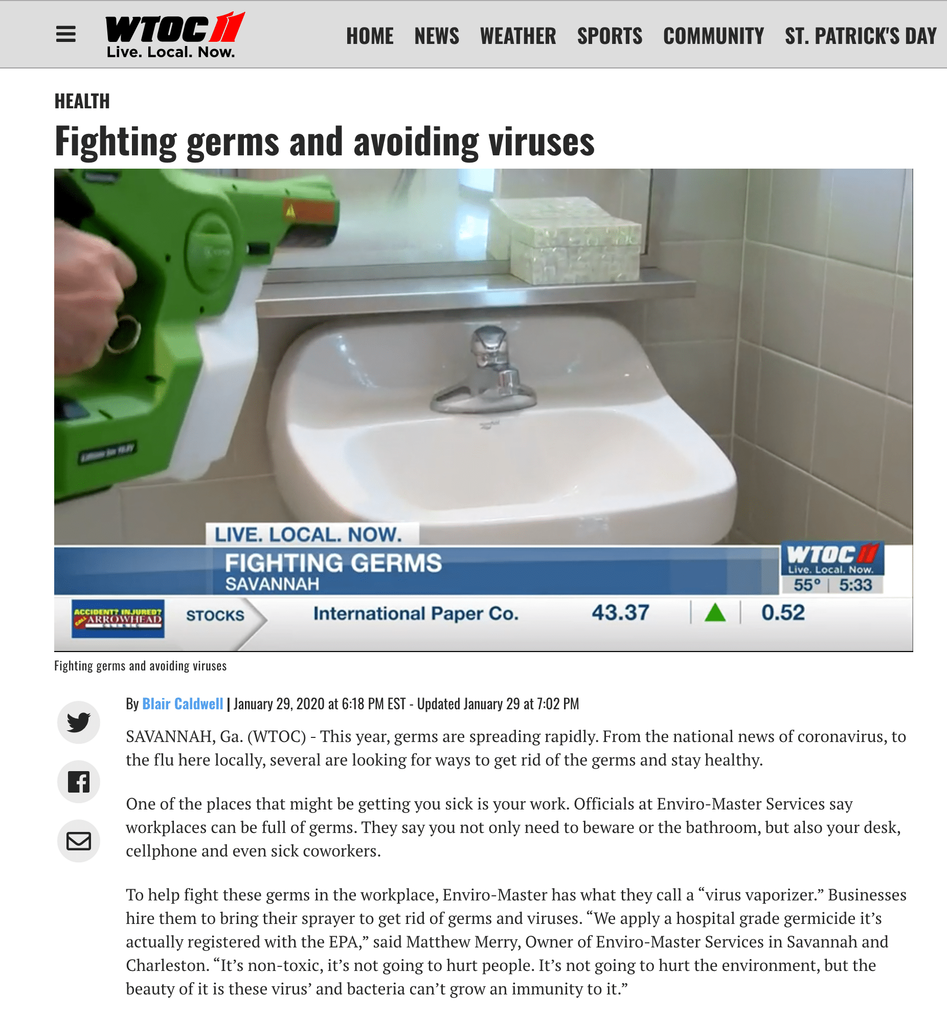 Fighting germs and avoiding viruses