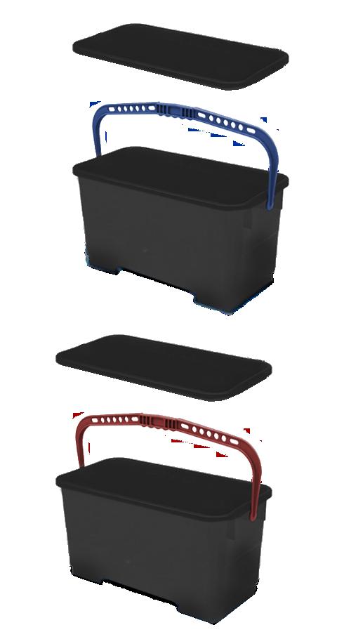 Kit completo per la pulizia manuale con carrello modello ESSENTIAL