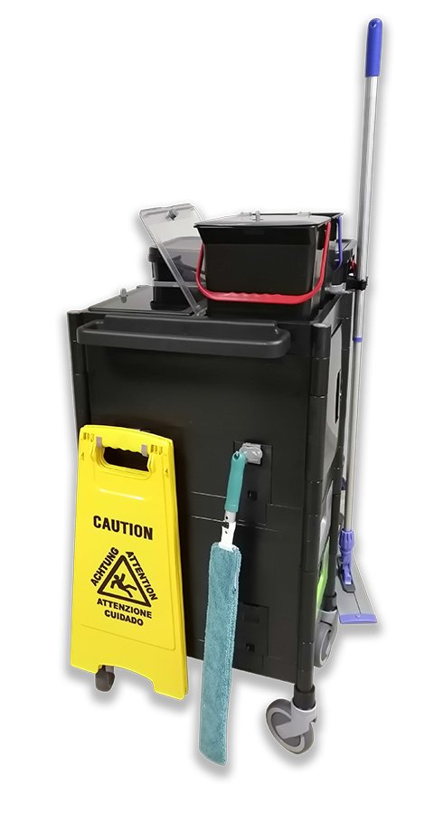 Kit completo per la pulizia manuale con carrello modello COMPACT
