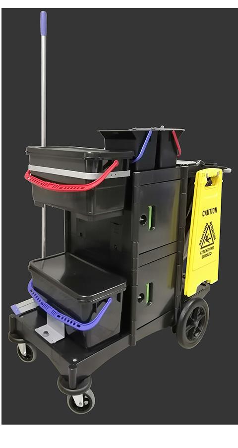 Kit completo per la pulizia manuale con carrello modello MAXI