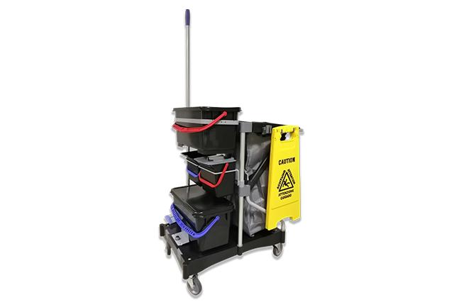 Kit completo per la pulizia manuale con carrello modello BASIC