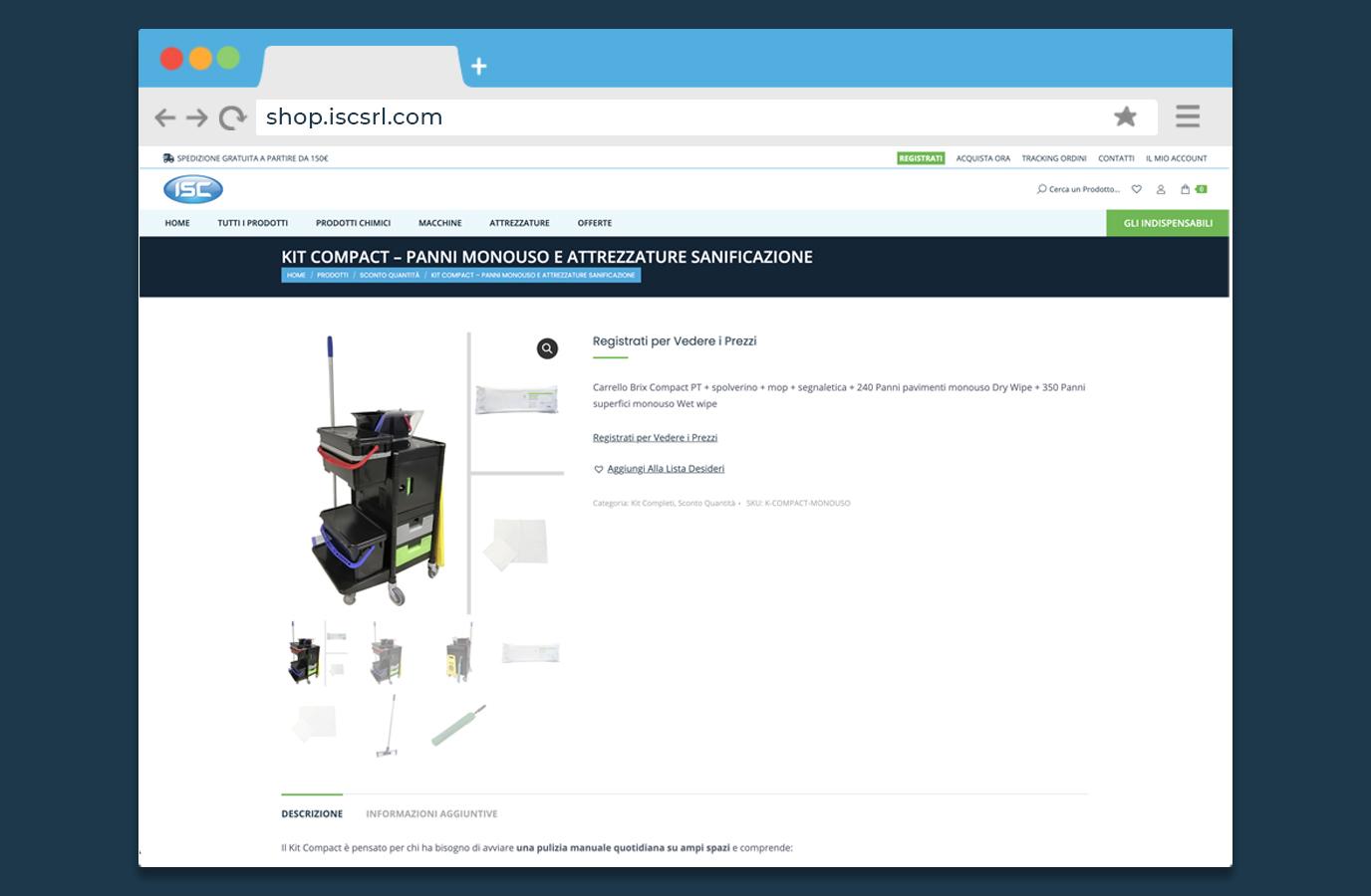 Carrello Kit Compact Pagina tipo di prodotto