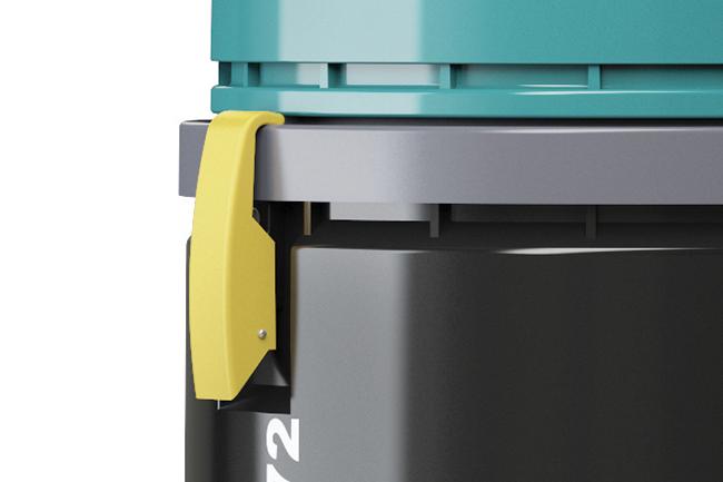 Dettaglio aspira liquidi V-WD-72 chiusuraermetica